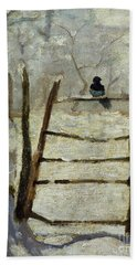 The Magpie Beach Towel by Claude Monet