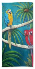 Three Is A Crowd,macaws Beach Towel