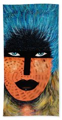 Beach Towel featuring the painting  Viva Niva by Natalie Holland