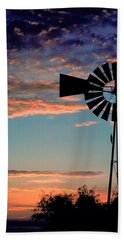 Windmill At Dawn Beach Sheet