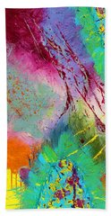 Modern Abstract Diptych Part 1 Beach Towel