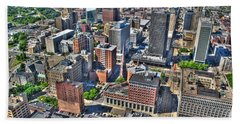 0017 Visual Highs Of The Queen City Beach Towel by Michael Frank Jr