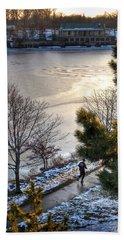 007 Hoyt Lake Winter 2013 Beach Towel