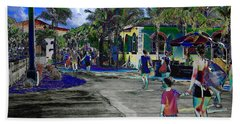 Beach Towel featuring the photograph St Croix Stencil  by EDi by Darlene