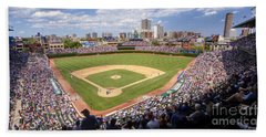0100 Wrigley Field - Chicago Illinois Beach Towel
