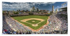 0234 Wrigley Field Beach Sheet by Steve Sturgill