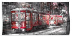 0271 New Orleans Street Car Beach Towel