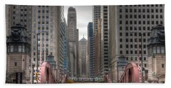 0295 Lasalle Street Chicago Beach Towel