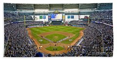 0546 Nlds Miller Park Milwaukee Beach Towel