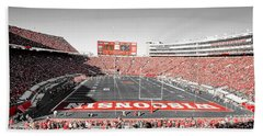 0813 Camp Randall Stadium Panorama Beach Towel