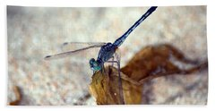 Blue Dragonfly Beach Towel