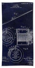 1906 Fishing Reel Patent Beach Towel by Jon Neidert
