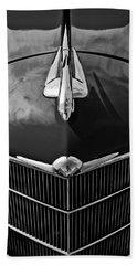 1934 Oldsmobile Hood Ornament Beach Towel