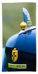 1942 Lincoln Continental Cabriolet Hood Ornament - Emblem Beach Towel