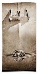 1950 Oldsmobile Hood Ornament Beach Towel