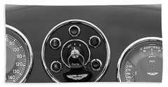 1953 Aston Martin Db2-4 Bertone Roadster Instrument Panel Beach Towel