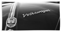 1956 Volkswagen Vw Bug Hood Emblem Beach Towel