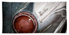 1957 Ford Ranchero Pickup Truck Emblem Taillight Beach Towel