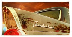 Beach Towel featuring the photograph 1957 Ford Thunderbird  by Aaron Berg