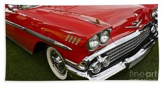 1958 Chevy Impala Beach Towel