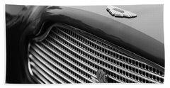 1960 Aston Martin Db4 Gt Coupe' Grille Emblem Beach Towel
