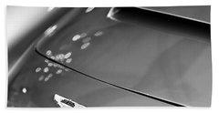 1961 Aston Martin Db4 Series Iv Hood Emblem Beach Towel