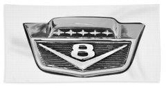 1966 Ford F100 Pickup Truck Emblem Beach Towel