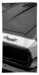 1967 Chevrolet Camaro Ss 350 Convertible Hood Emblem Beach Towel