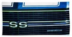 1970 Chevrolet Chevelle Ss Grille Emblem Beach Towel