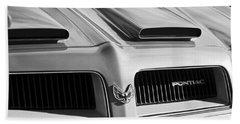 1974 Pontiac Firebird Grille Emblem Beach Towel
