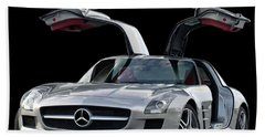2010 Mercedes Benz Sls Gull-wing Beach Towel by Jack Pumphrey