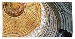 Beach Towel featuring the photograph A Capitol Rotunda by Cora Wandel