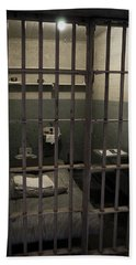 A Cell In Alcatraz Prison Beach Towel