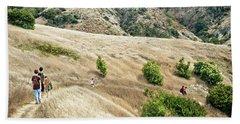 A Family Hikes Across Santa Cruz Island Beach Towel