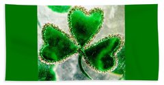 A Shamrock On Ice Beach Towel