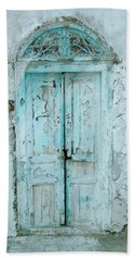 Beach Towel featuring the photograph Abandoned Doorway by Donna Corless