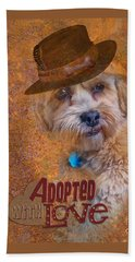 Adopted With Love Beach Sheet