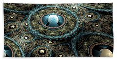 Alien Station Beach Towel by Svetlana Nikolova