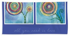 Beach Sheet featuring the painting All You Need Is Love by Tanielle Childers