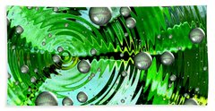 Amazing. Abstract Art. Green Grey  Blue Yellow  Beach Towel by Oksana Semenchenko