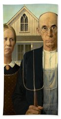 American Gothic Beach Towel by Grant Wood