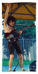 Angus Young Of A C D C At Day On The Green Monsters Of Rock - July 1979 Beach Towel