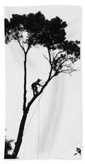 Arborist At Work Beach Towel