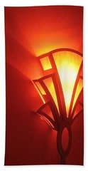 Beach Towel featuring the photograph Art Deco Theater Light by David Lee Guss