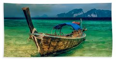 Asian Longboat Beach Towel