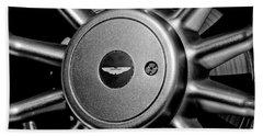 Aston Martin Db7 Wheel Emblem Beach Towel