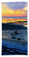 At A Days End Beach Sheet by Debra Forand