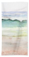 Beach Towel featuring the painting At The Beach by C Sitton