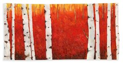 Autumn Fire Beach Towel