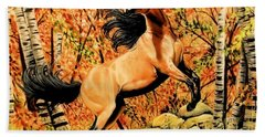 Autumn Frolick Beach Towel